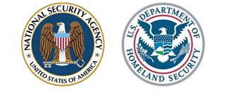 images of Homeland Security and NSA logos
